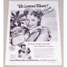 1947 Lux Toilet Soap Vintage Print Ad Celebrity Jeanette MacDonald