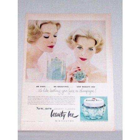 1958 Shulton Beauty Ice Moisturizer Color Print Ad - Desert Flower