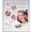 1947 Palmolive Soap Vintage Color Print Ad - Lovelier Skin