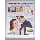 1944 Palmolive Soap Vintage Color Print Wartime Ad - Palmolive Plan