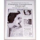 1961 Noxzema Skin Cream Vintage Print Ad - Complexion Clean-Up