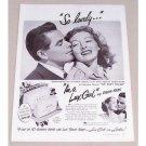 1949 Lux Toilet Soap Vintage Print Ad Celebrity Evelyn Keys