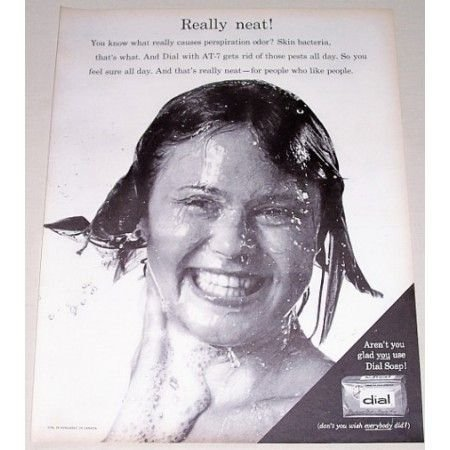 1963 Dial Beauty Soap Vintage Print Ad - Really Neat!