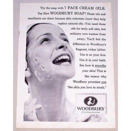1955 Woodbury Soap Vintage Print Ad - 7 Face Cream Oils