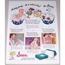 1942 Swan Floating Soap Color Print Art Ad - Its A Sudsin Whiz