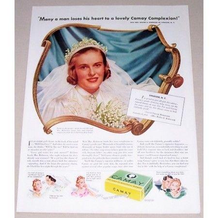 1939 Camay Soap Color Print Ad - Many A Man Loses