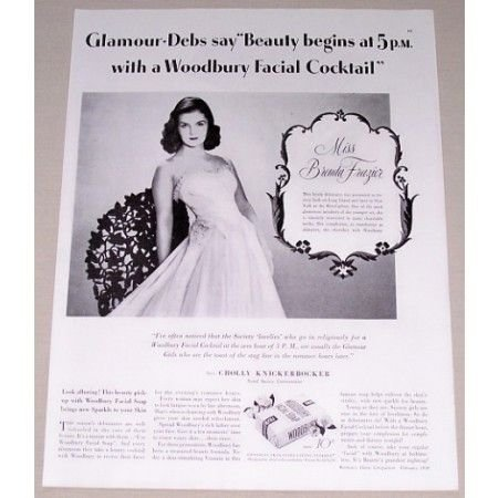 1939 Woodbury Facial Soap Vintage Print Ad Miss Brenda Frazier