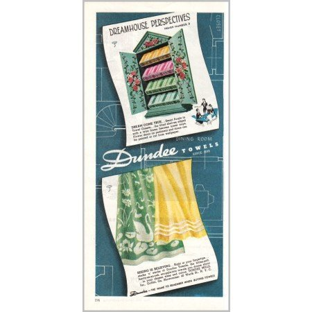 1945 Dundee Towels Color Print Ad - Dreamhouse Perspectives