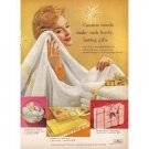 1958 Cannon Towels Color Print Ad - Lovely Lasting Gifts