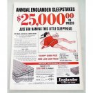 1956 Englander Presidential A Red Line Mattress Color Print Ad