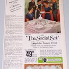1960 Taylorton Casual China Rosemary Pattern Color Print Ad THE SOCIAL SET