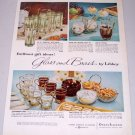 1960 Libbey Safedge Glassware Glass and Brass Glasses Set Color Print Ad