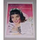 1949 Oneida Community Silverplate Flatware Color Print Ad