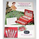 1952 Color Print Ad for 1847 Rogers Bros Silverplate Flatware Chest
