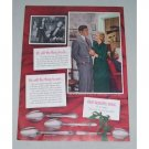 1949 Color Print Ad for 1847 Rogers Bros Silverplate Flatware