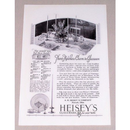 1927 Heisey's Glassware Vintage Print Ad - Matchless Charm