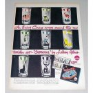 1946 Libbey Glass CARNIVAL Tumbler Glasses Set Color Print Ad