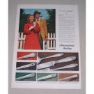 1949 International Sterling Silverplate Flatware Color Print Ad