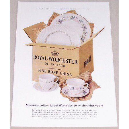 1962 Royal Worcester Fine Bone China Color Print Ad