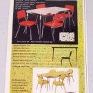 1952 Arvin Gourmet Spice Pattern Vintage Dinette Set Color Print Ad