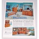 1960 The Eltham Group Bedroom Furniture by Bassett Color Print Ad