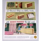 1949 Masonite Presdwood Furniture Color Print Ad