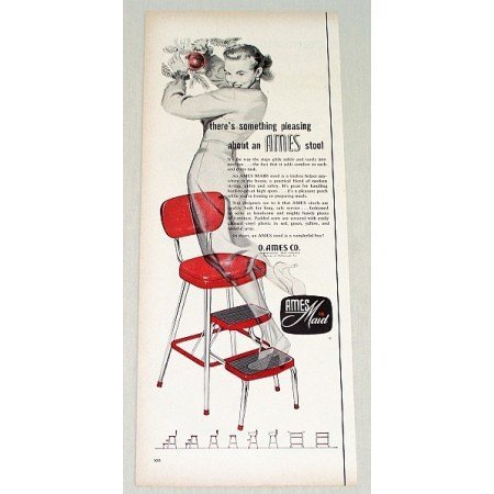 1955 Ames Maid Red Step Stood Color Print Ad