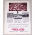 1954 Johnson Control Temp. Air Conditioning Vintage Print Ad San Francisco California