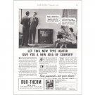1938 Duo-Therm Fuel Oil Circulating Heaters Vintage Print Ad