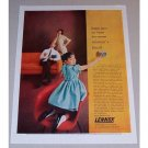1957 Lennox All-Season Air Conditioning Color Print Ad