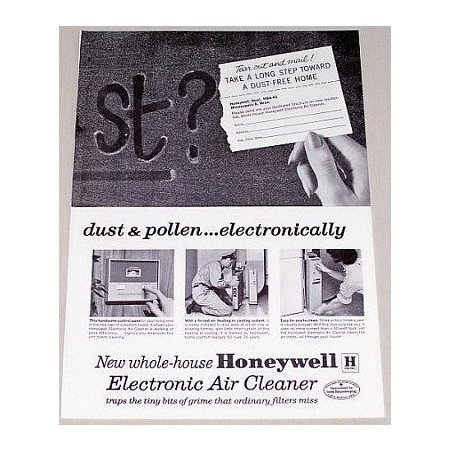 1962 Honeywell Electronic Air Cleaner Vintage Print Ad