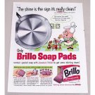 1960 Brillo Soap Pads Color Print Art Ad - Shine Is The Sign