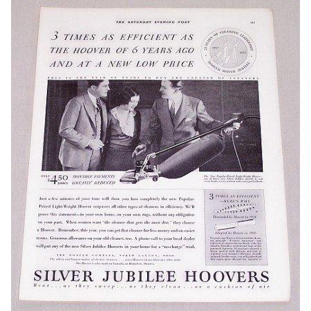 1932 Silver Jubilee Hoover Upright Vacuum Cleaner Vintage Print Ad