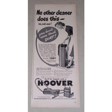 1949 Hoover Model 50 Vacuum Cleaner Vintage Print Ad