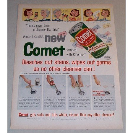1957 Procter Gamble Comet Cleanser Color Print Ad