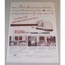 1955 Regina Twin Brush Polisher Scrubber Vintage Print Ad