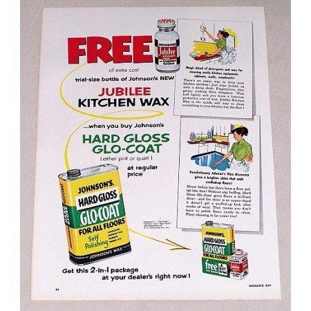 1953 Johnson's Wax Glo Coat Floor Polish Vintage Color Print Ad