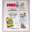 1953 Johnson's Wax Glo Coat Floor Polish Vintage Color Print Ad