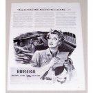 1944 Eureka Vacuum Cleaners Wartime Vintage Print Ad