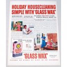 1948 Gold Seal Glass Wax Color Print Ad - Holiday Housekeeping
