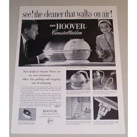 1957 Hoover Constellation Vacuum Cleaner Vintage Print Ad