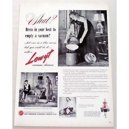 1947 Lewyt Vacuum Cleaner Vintage Print Ad - Dress In Your Best