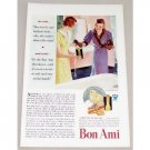 1933 Bon Ami Cleanser Powder Color Print Art Ad - She Said....