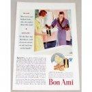 1933 Bon Ami Cleanser Powder Color Print Art Ad - She Said....