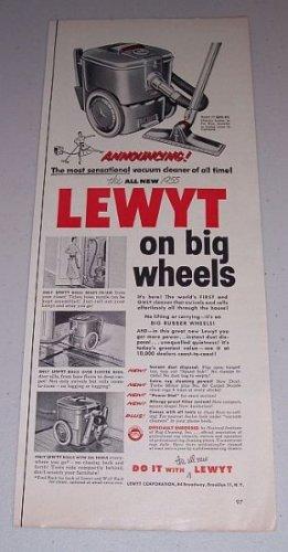 1955 Lewyt Model 77 Vacuum Cleaner Vintage Print Ad