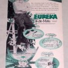 1953 Eureka Roto Matic Swivel Top Vacuum Cleaner Vintage Print Ad