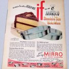 1953 Mirro Layer Cake Pans Bakeware Vintage Color Print Ad