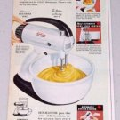 1949 Sunbeam Automatic Mixmaster Mixer Small Kitchen Appliance Color Print Ad