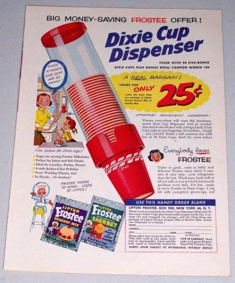 1954 Dixie Cup Dispenser Color Print Art Ad