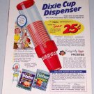 1954 Dixie Cup Dispenser Color Print Art Ad